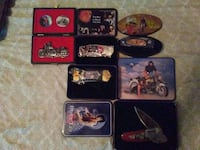 pocket knife collection with cases