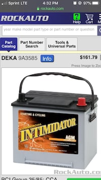 Car Battery Nissan  Rockville, 20852