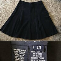 Women's Jones New York Signature Warm Corduroy Black Skirt size 14
