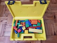 Wood building blocks yellow and white plastic cas Alexandria, 22307
