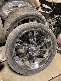"24"" Chrome Rims & Tires. West Springfield, 22152"
