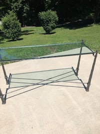Glass top sofa table Harpers Ferry, 25425