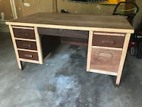 1959 Solid Wood Tanker Desk Chantilly