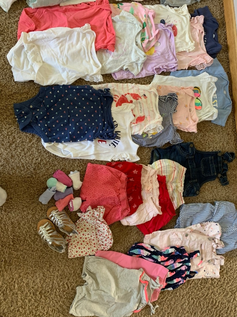 Photo Toddler Girl Summer Clothes; 12-18 months, 36 pieces