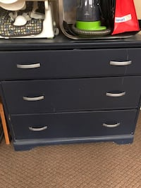 black wooden 3-drawer chest 785 km