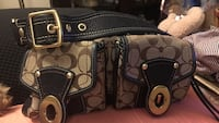 monogrammed gray and black Coach leather bag Grinnell, 50112