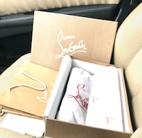 Men's Christian Louboutin Louis Size 11 US Color = peach (RED BOTTOMS) Rahway, 07065