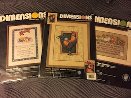 3 Sealed Dimensions Cross Stitch Kits