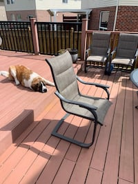Patio furniture  Comes with five chairs Steel and glass table Kitchener, N2P 2V8