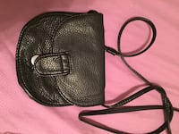 Black and brown leather crossbody bag Yorkville, 13495