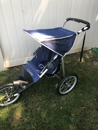 baby's blue and gray jogging stroller Hewlett, 11557