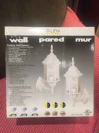 Catalina Outdoor Wall Lantern/  white colour/ new Richmond Hill, L4E