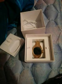 Mk gold and black smart watch with box Lubbock