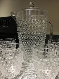 Acrylic Pitcher and Glass Set Alexandria