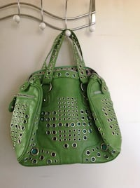 green and brown leather tote bag Mississauga, L4Y 3V8