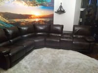 Brown leather sectional set  528 mi