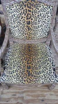 Preowned Leopard Accent Chair  Fort Worth, 76119