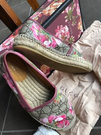 pair of pink floral slip-on shoes Ottawa, K2J 5Z4