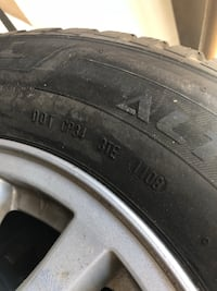 black auto wheel with tire null