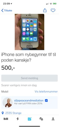 iPhone 4. God start tlf, kanskje til poden? 6232 km