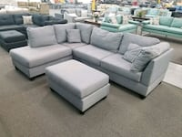 gray fabric sectional sofa with ottoman Grand Terrace, 92313