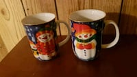 two white-and-red ceramic mugs Oakville, L6L 5T7