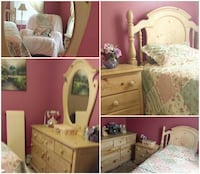 "Girl's 5 Pc ""Country Charm ""Bedroom Set  Wakefield"
