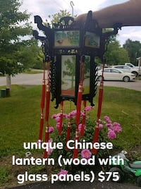 antique Chinese wood and glass panelled lantern  Orillia, L3V 4E1