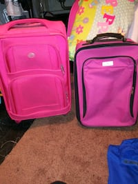 To hot pink luggage bags on wheels Red Lion, 17356