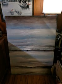 Blue canvas painting