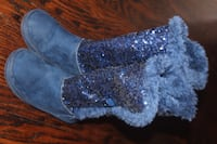 $15 Justice girl size 13 blue fancy boots Thornhill, ON L4J 2A3, Canada