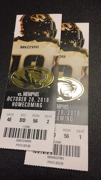 mizzou football tickets St. John, 63114