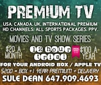 1 YEAR PREMIUM FOR YOUR ANDROID BOX  539 km