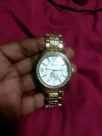round silver-colored chronograph watch with link bracelet Baton Rouge, 70816