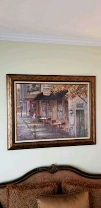 brown wooden framed painting of house Southampton Township, 08088