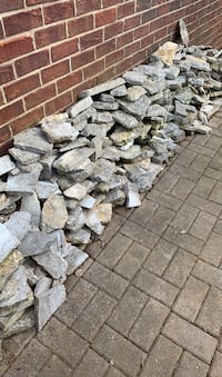 Fascia rock - left overs from building a fireplace