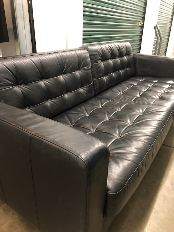 Prime Black Leather Couch Pabps2019 Chair Design Images Pabps2019Com