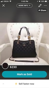 black leather 2-way bag screenshot Brossard, J4W 2Y9