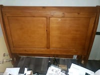 Solid wood sleigh bed with dresser and nightstands Fort Wayne
