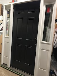 Black front entry door with side lights  Fredericksburg, 22405