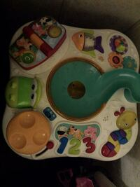 Child's stand up learning table with sound activity