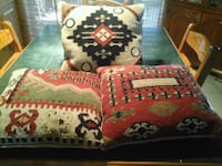 Pottery Barn pillow covers.