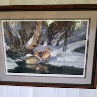 Sprigs and Snow Framed Print  Reading