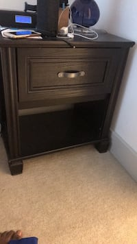 brown wooden 2-drawer nightstand Andover, 01810