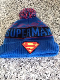Superman themed knit cap