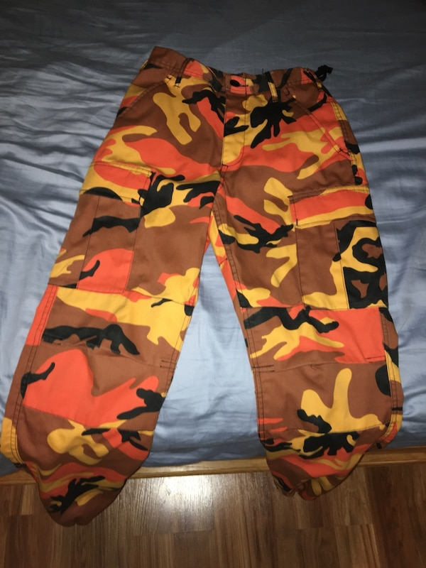 Used Orange camo Rothco BDU pants XS extra small for sale in Santa Rosa -  letgo bb2e8658399