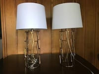 2 bedside table lamps OMAHA