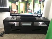 Black wooden tv stand with flat screen television Las Vegas, 89121