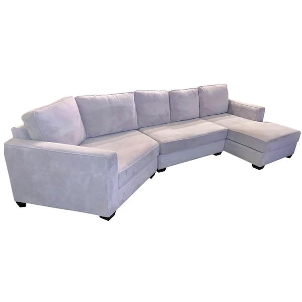 Fabulous Sectional Sofa Chaise L Shape Couch Grey Gray Onthecornerstone Fun Painted Chair Ideas Images Onthecornerstoneorg