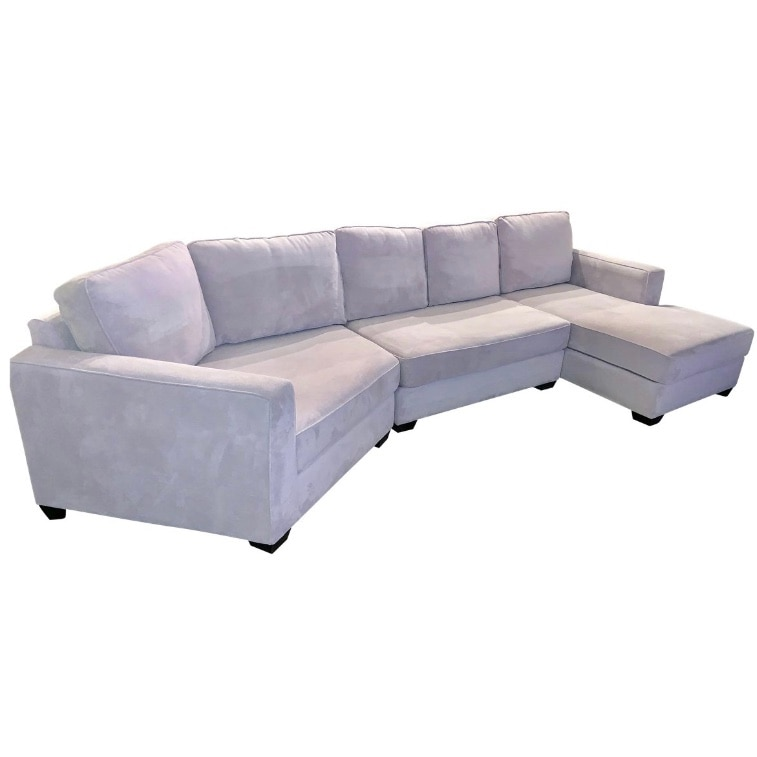 Sectional Sofa Chaise L Shape Couch Grey Gray